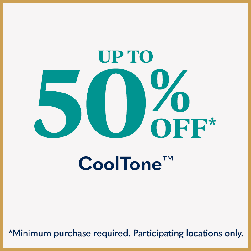Up to 50% Off CoolTone - Minimum purchase required. Participating locations only.